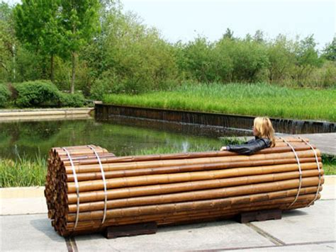 pile isle bamboo bench a sustainable outdoor furniture