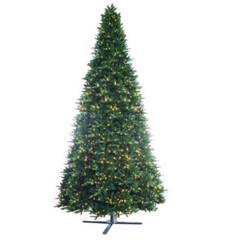 martha stewart living 15 ft pre lit led regal fir artificial christmas tree with dual function