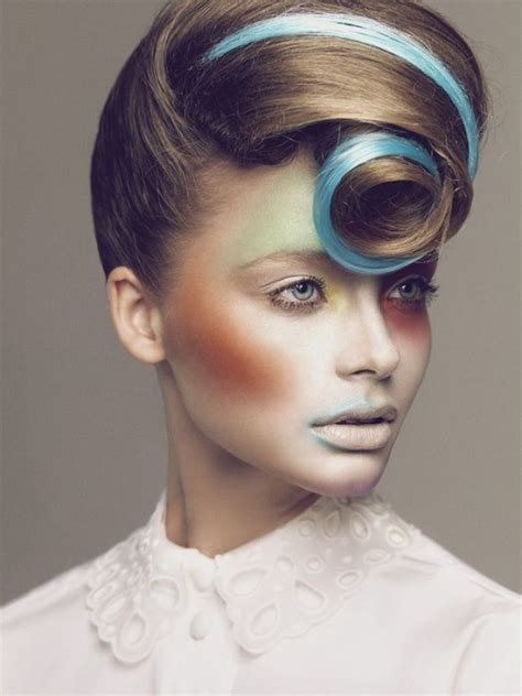 fashion hair 2015 high fashion hair and makeup in strong colors
