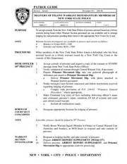 Warrant Search New York Nypd Patrol Guide