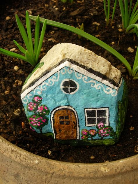 painted rock houses pin by ღ ღ liveyourdreams on rock stone tile