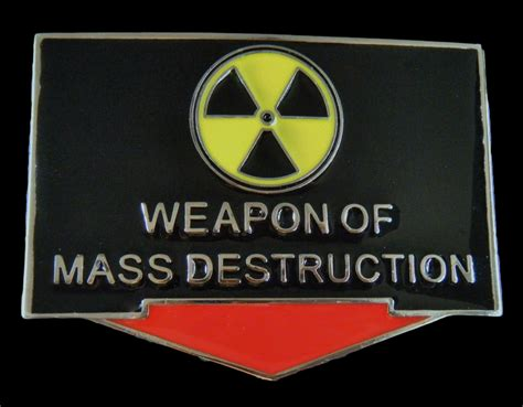 weapons of mass specters of the nuclear age books wepons of mass belt buckle weapons of