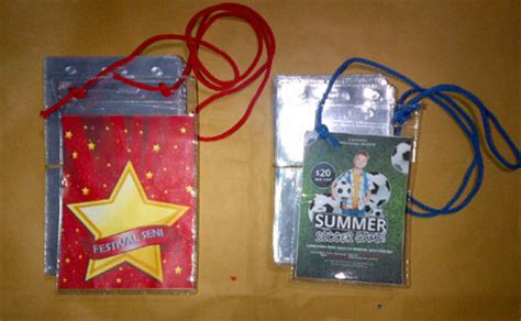 Jual Plastik Kartu Nama Name Tag Plastik 8 5 X 11 Cm Berdiri contoh ukuran id card panitia contoh 36