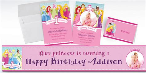 disney princess birthday invitations custom custom disney princess 1st birthday invitations thank
