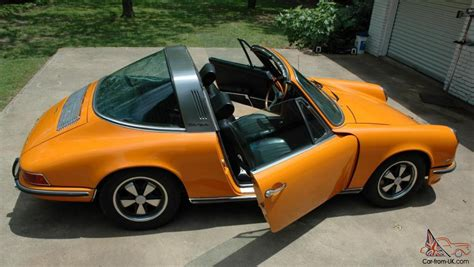 orange porsche 911 convertible 1970 porsche 911s targa signal orange