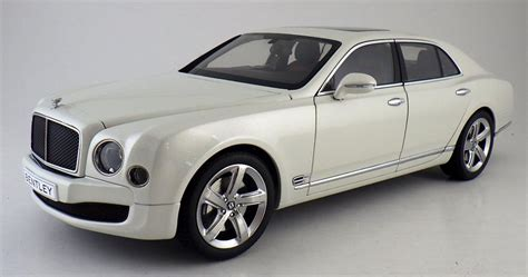 bentley mulsanne speed white bentley mulsanne speed ghost white diecast model in 1 18