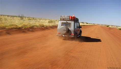 australian outback jeep mercedes g class broken by the australian outback