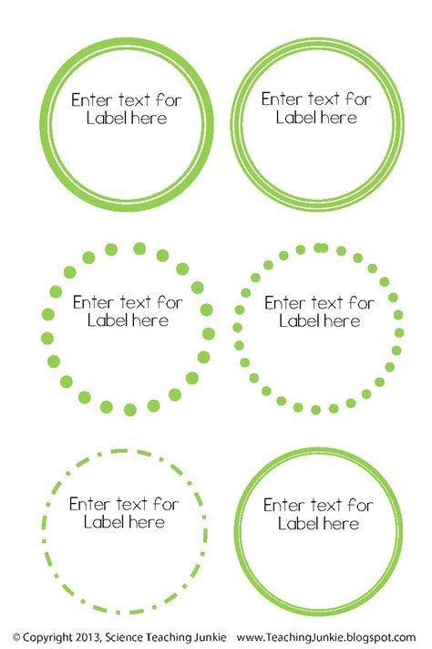 template for circle labels 6 best images of printable label template free