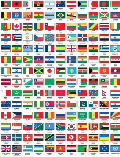 rad worldwide 20 mini posters books flags of the world with names capital jpg 814 215 1066