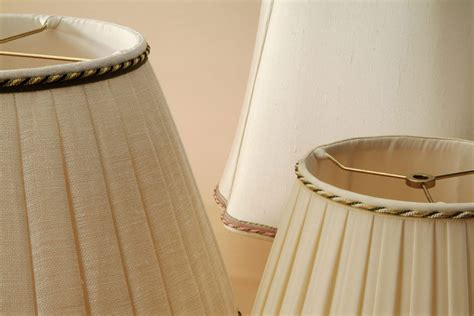 Handmade Silk Lshades - sewn silk linen shades