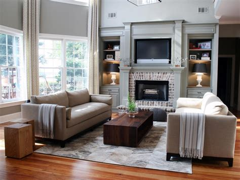 Living Room With Tv Fireplace 20 Mantel And Bookshelf Decorating Tips Living Room And