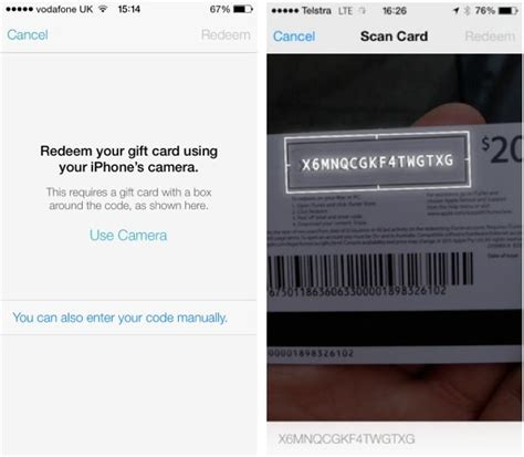 Itune Gift Card Codes - ios 7 lets you redeem itunes gift cards with your camera cult of mac