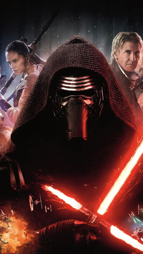Wars The Awakens Poster Iphone All H the awakens iphone 5 wallpaper 640x1136