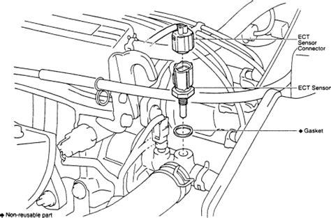 2004 toyota camry coolant temperature sensor replacement html autos weblog repair guides coolant temperature sensor testing autozone com