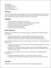 college application resume template professional college admissions representative templates