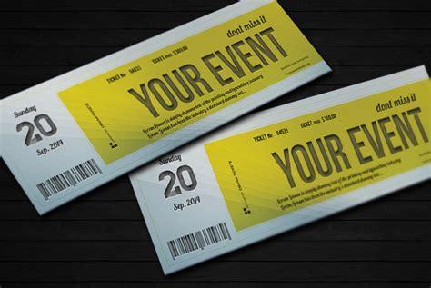 Concert Ticket Design Template Psd Free Download 187 Designtube Creative Design Content Ticket Template Psd