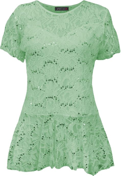 Pattern Frill Floral Top womens floral pattern sleeve flared peplum frill