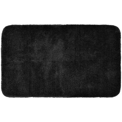 30 X 50 Kitchen Rugs Garland Rug Finest Luxury Black 30 In X 50 In Washable Bathroom Accent Rug Pre 3050 17 The