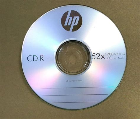 Cd R 52x Hp Slim 10 Pcs 15 52x hp logo blank cd r cdr recordable disc 80min 700mb with paper sleeves ebay