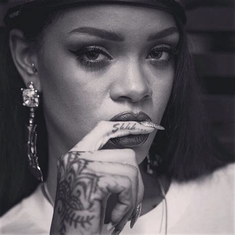 tattoo finger shhh 20 gorgeous rihanna tattoo designs you must have picsmine