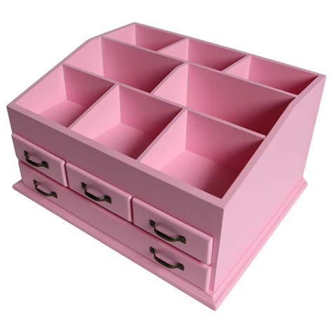Wooden Makeup Drawers by Wooden 4 Drawer Jewellery Large Cosmetic Makeup Storage