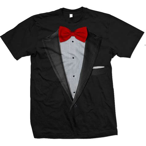 Tshirt M A T E Greenlight realistic tuxedo t shirt tux and bow tie suit t shirts
