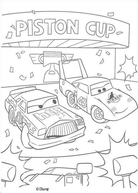 cars wingo coloring pages chick hicks and the king coloring pages hellokids com