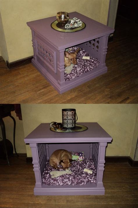 end table dog bed table dog bed made from an old outdated end table we