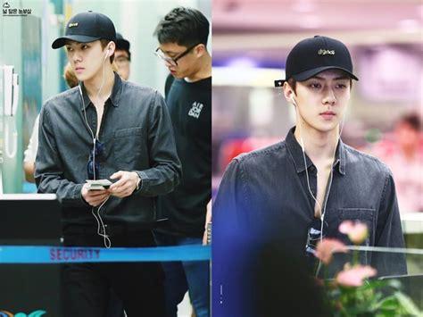 Baju Exo Growl Lengan Panjang umbar dada di bandara sehun exo malah diomeli fans kabar berita artikel gossip