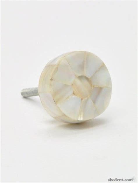 pearl puck cupboard knob of pearl veneer knobs