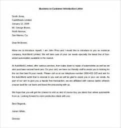 Exle Of Introduction Letter In Business Business Introduction Letter Sles The Best Letter Sle