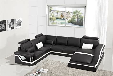 Modern Leather Sectional Sofa by T271 Modern Black Leather Sectional Sofa Sofas Couches