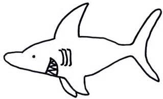 shark drawing template clipart best