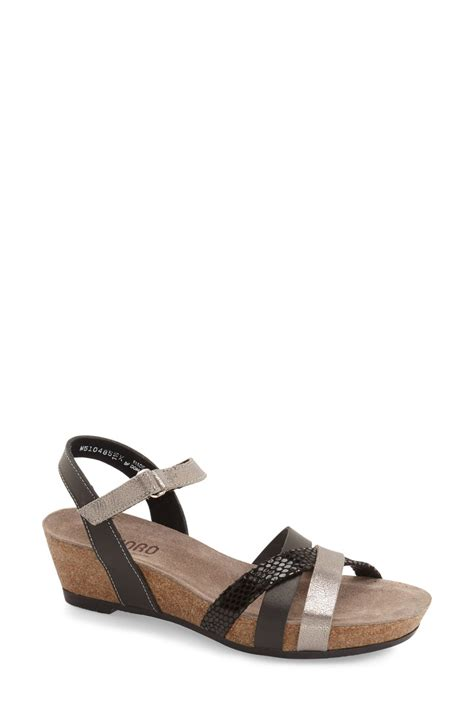 nordstrom black sandals munro strappy wedge sandal nordstrom rack