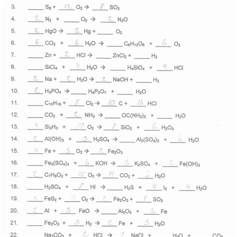 balancing equations worksheet chemistry balancing chemical equations worksheet answers worksheet resume