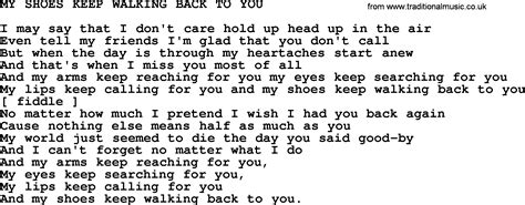 johnny song my shoes keep walking back to you lyrics