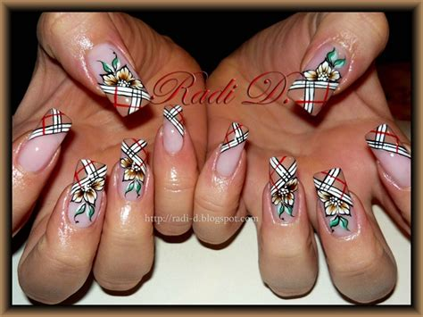 tutorial nail art burberry burberry nails nail art gallery