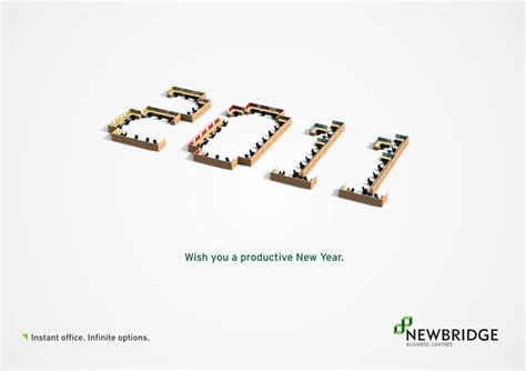 happy new year creative wishes 20 most creative new year advertisements 1 design per day