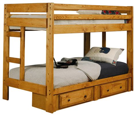 coaster furniture bunk bed wrangle hill twin over twin bunk bed by coaster fine