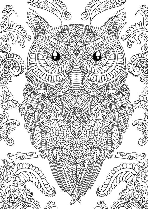 coloring books for adults popular coloring pages of owls for adults bestofcoloring