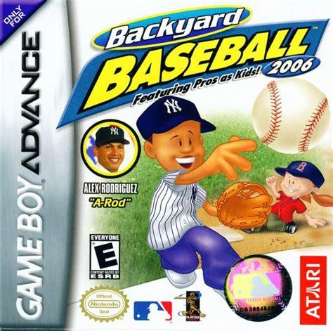 backyard baseball 2006 backyard baseball 2006 box for boy advance
