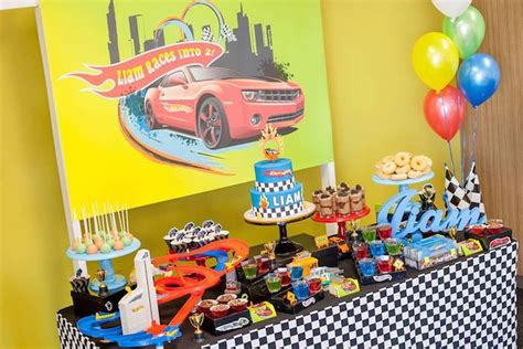 hot party themes 2015 kara s party ideas 187 dessert table from a hot wheels car