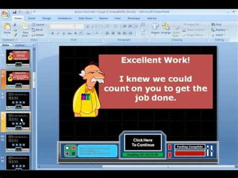 tutorial powerpoint games powerpoint games space decoder youtube