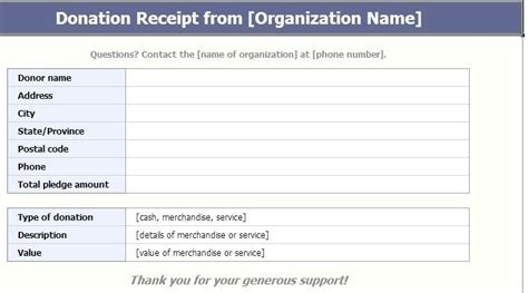 donation receipt template word receipt of donation kinoroom club