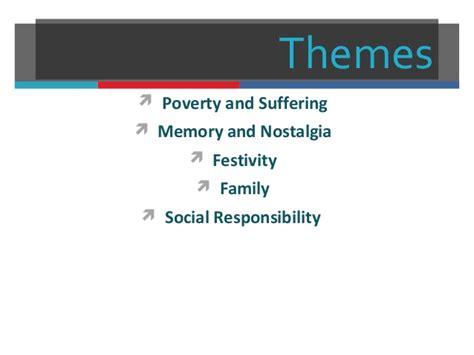 themes in christmas carol christmas carol revision