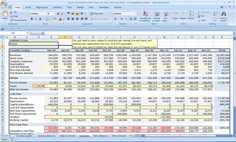 business plan financial template spreadsheet templates
