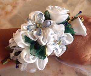 corsages for homecoming wrist corsage for prom ribbon flower pin prom corsage by vonlarae