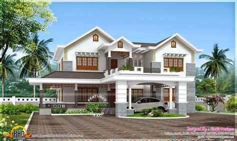 beautiful model in home design 3d beautiful 4 bedroom modern house kerala home design and
