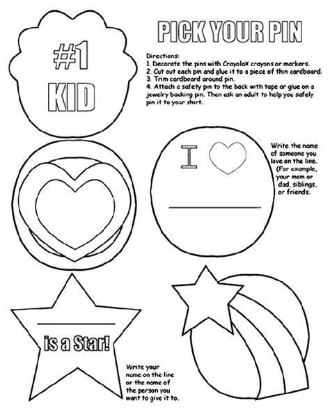 pick  pin coloring page crayolacom
