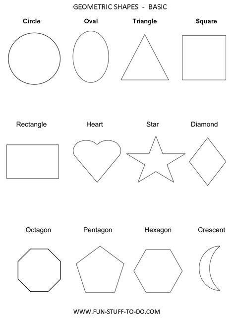 shape tracing templates shapes worksheets new calendar template site